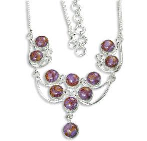 Design 14459: purple mohave necklaces