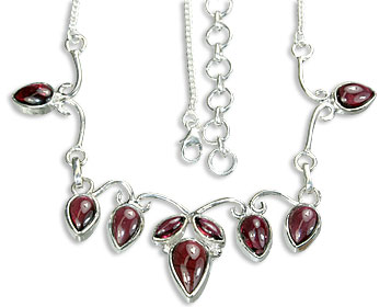 Design 14464: red garnet necklaces