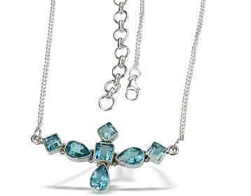 Design 14466: blue blue topaz necklaces