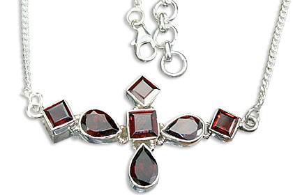 Design 14468: red garnet necklaces