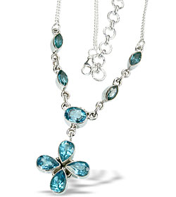 Design 14471: blue blue quartz necklaces