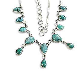 Design 14477: green turquoise necklaces