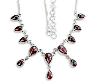 Design 14479: red garnet necklaces