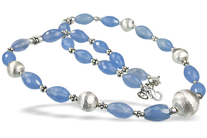 Design 14548: blue chalcedony necklaces