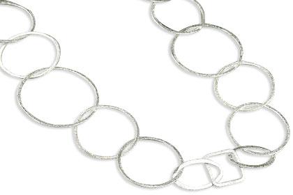 Design 14559: white silver art-deco necklaces