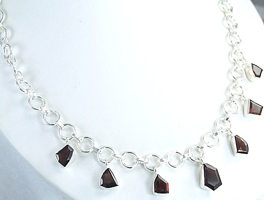 Design 1457: red garnet necklaces