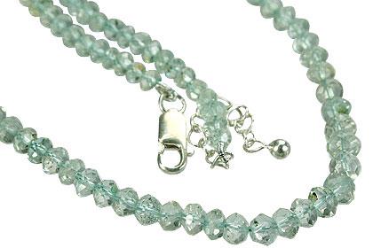 Design 1466: blue aquamarine childrens necklaces