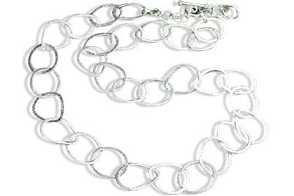 Design 14717: white silver necklaces