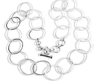 Design 14721: white silver necklaces