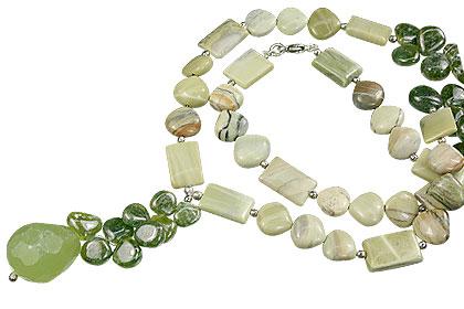 Design 14825: green chrysoprase necklaces