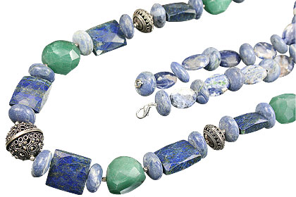 Design 14826: blue,green sodalite necklaces