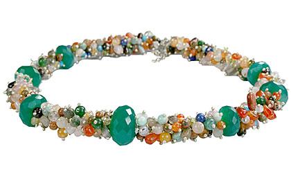 Design 14961: green,multi-color multi-stone necklaces