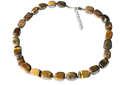 Design 14967: brown,yellow tiger eye necklaces