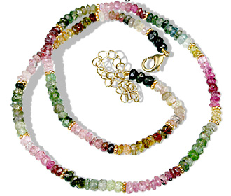 Design 1500: green,pink,multi-color tourmaline necklaces