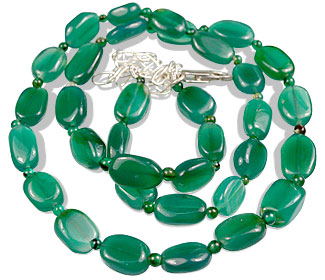 Design 1512: green onyx necklaces