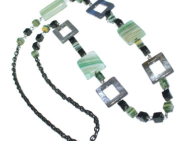 Design 15132: multi-color jasper contemporary necklaces