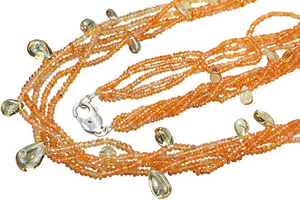 Design 15143: orange,yellow carnelian necklaces