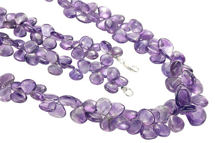 Design 15148: purple amethyst cha-cha necklaces