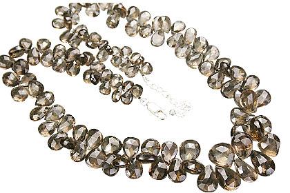Design 15154: brown smoky quartz necklaces