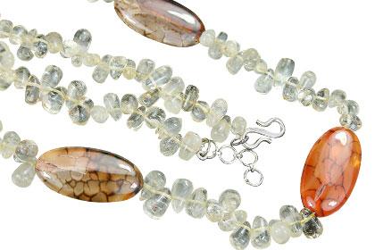 Design 15177: brown,yellow citrine necklaces