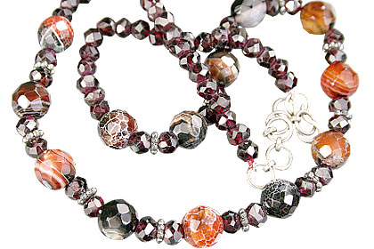 Design 15271: brown,red,multi-color jasper necklaces