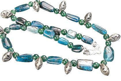 Design 15279: blue,green apatite necklaces