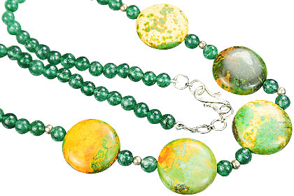 Design 15280: green,multi-color mohave necklaces
