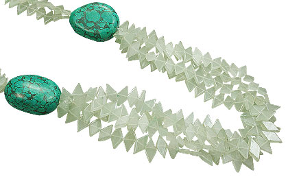 Design 15551: green aventurine multistrand necklaces