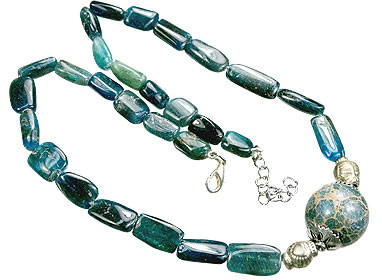 Design 15554: blue,green apatite necklaces