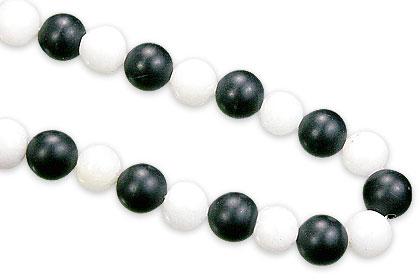 Design 15563: black,white lava necklaces