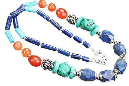 Design 15566: multi-color multi-stone necklaces
