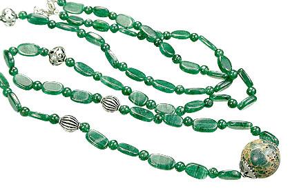 Design 15573: green aventurine necklaces
