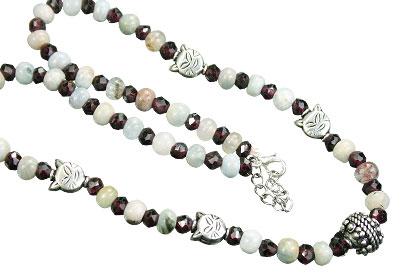 Design 15575: multi-color multi-stone necklaces