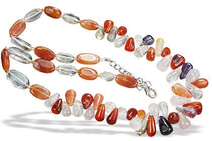 Design 15577: multi-color multi-stone necklaces