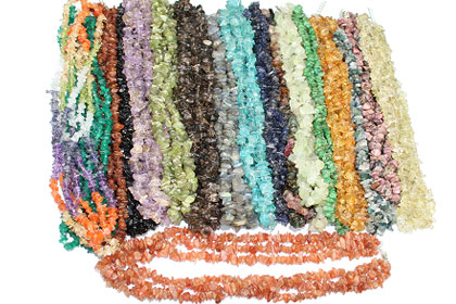 Design 15834: multi-color bulk lots necklaces