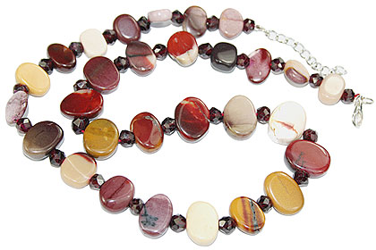 Design 16200: brown,red,multi-color jasper contemporary necklaces