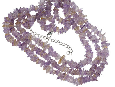 Design 16352: purple amethyst chipped necklaces