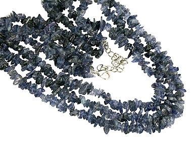 Design 16357: blue iolite multistrand necklaces