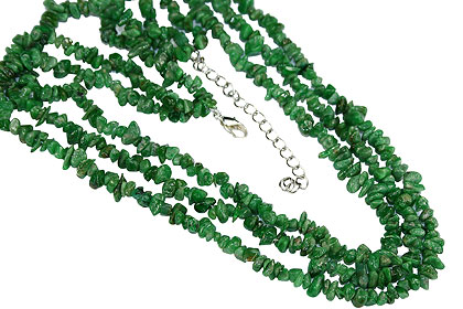 Design 16360: green chrysoprase multistrand necklaces