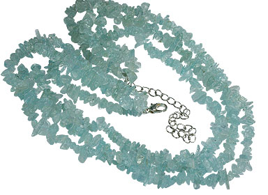 Design 16368: blue aquamarine multistrand necklaces