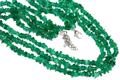 Design 16371: green aventurine multistrand necklaces