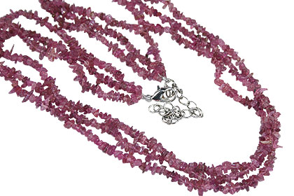 Design 16372: pink ruby multistrand necklaces
