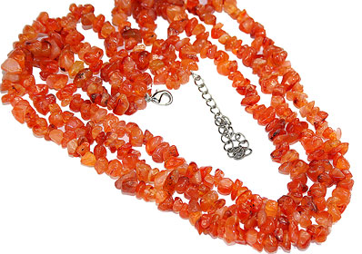 Design 16400: orange carnelian multistrand necklaces