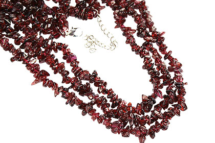 Design 16414: red aventurine chipped necklaces