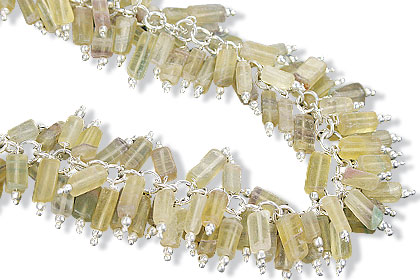Design 16469: yellow aquamarine clustered necklaces