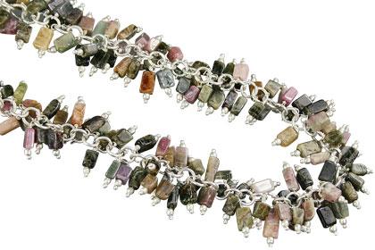 Design 16528: multi-color multi-stone necklaces