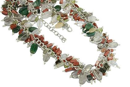 Design 16670: multi-color  necklaces