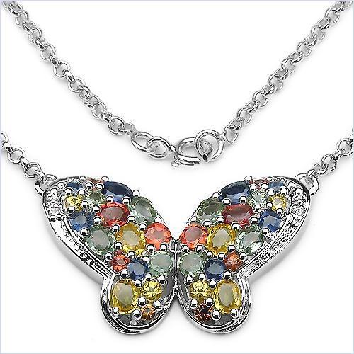 Design 16674: blue sapphire necklaces