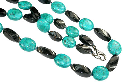 Design 16713: blue turquoise necklaces