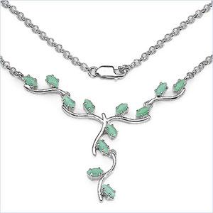 Design 16844: green emerald necklaces